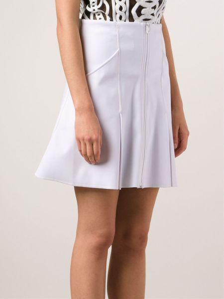 ktz pleated mini skirt in white lyst