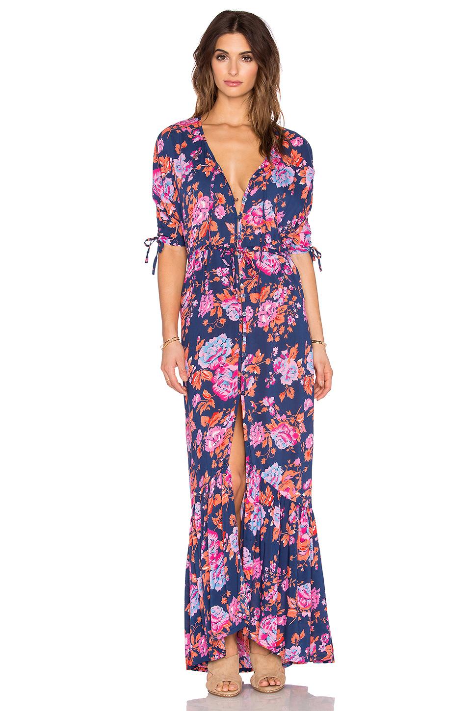 Auguste Multicolor Roamer Jersey Maxi Dress