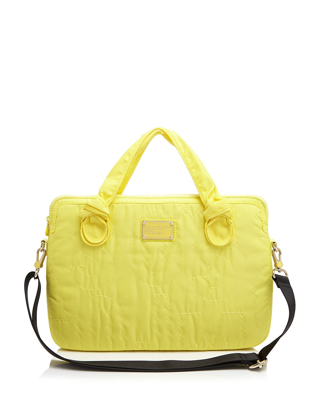 marc by marc jacobs pretty nylon 13 laptop commuter case in yellow lyst. Black Bedroom Furniture Sets. Home Design Ideas