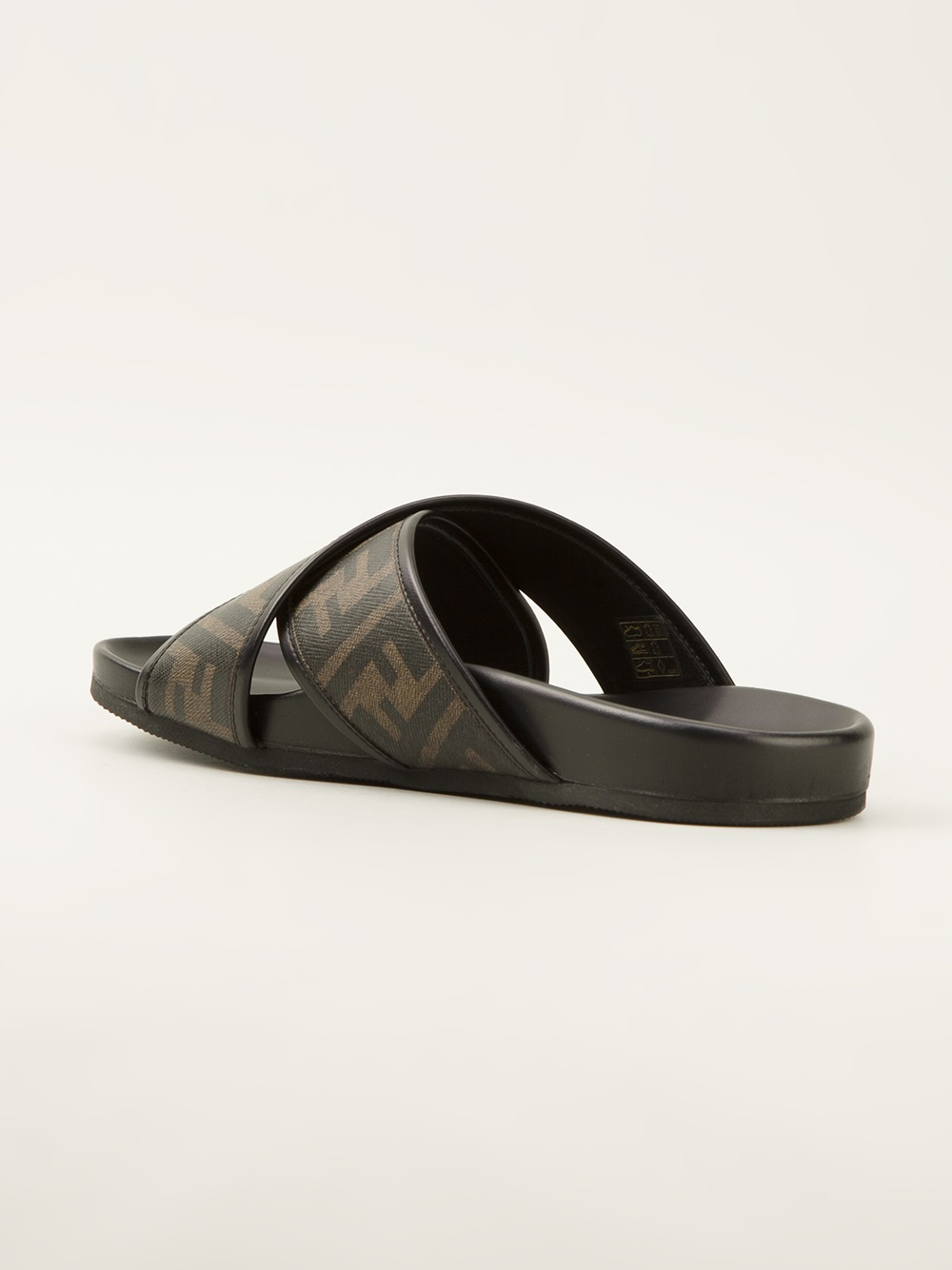 315a4955a9af Fendi Zucca Sandals in Black for Men