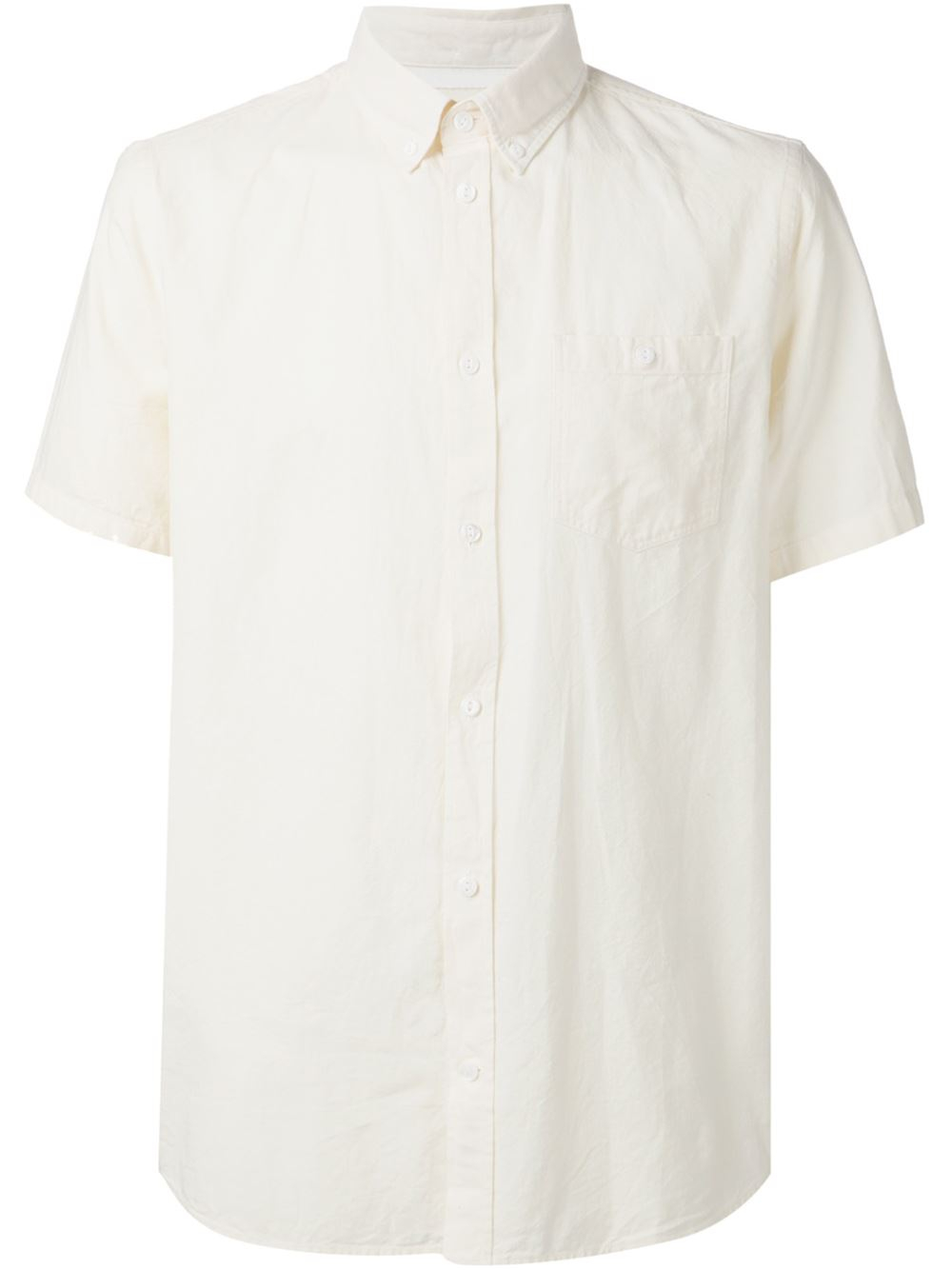 Norse projects short sleeve button down shirt in white for for White short sleeve button down shirts for men