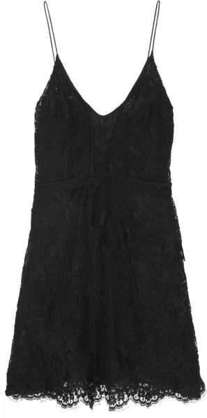Isabel Marant Melvyn Lace Mini Dress in Black - Lyst