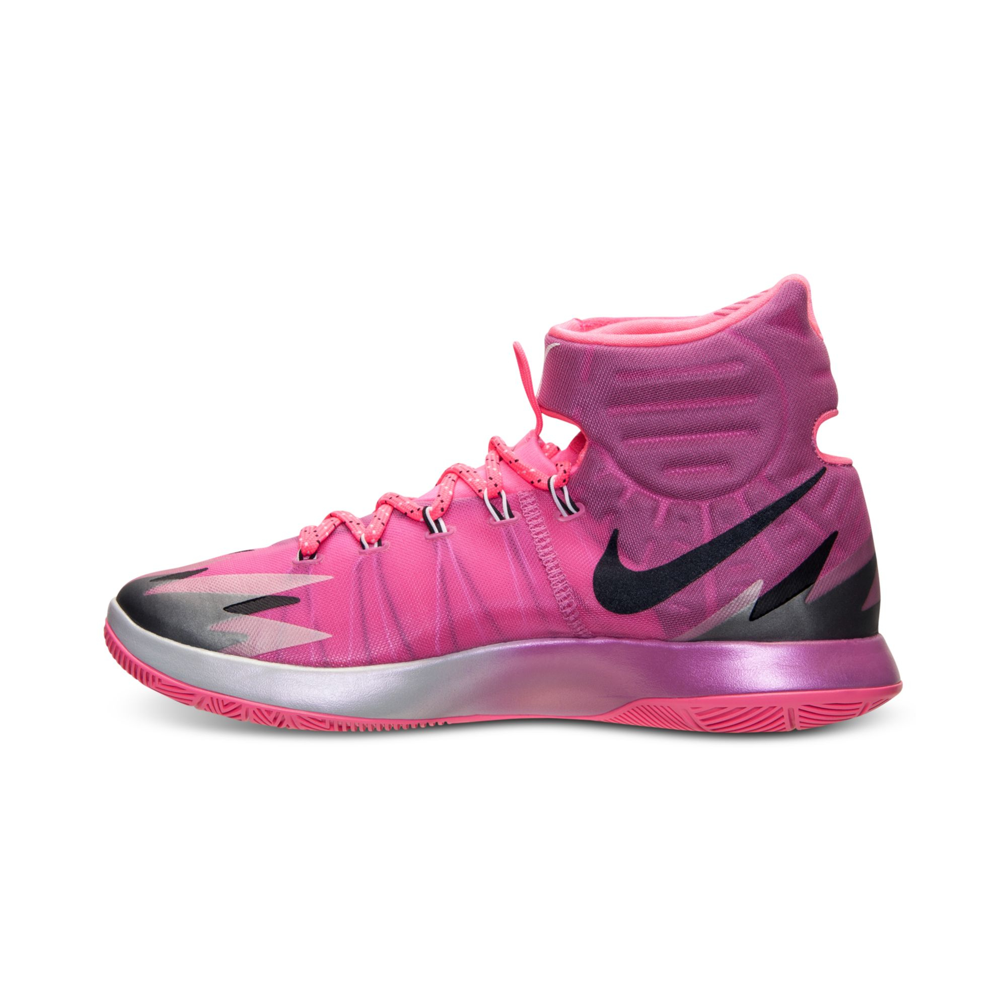 lyst nike mens zoom hyperrev basketball sneakers from finish line in pink for men. Black Bedroom Furniture Sets. Home Design Ideas
