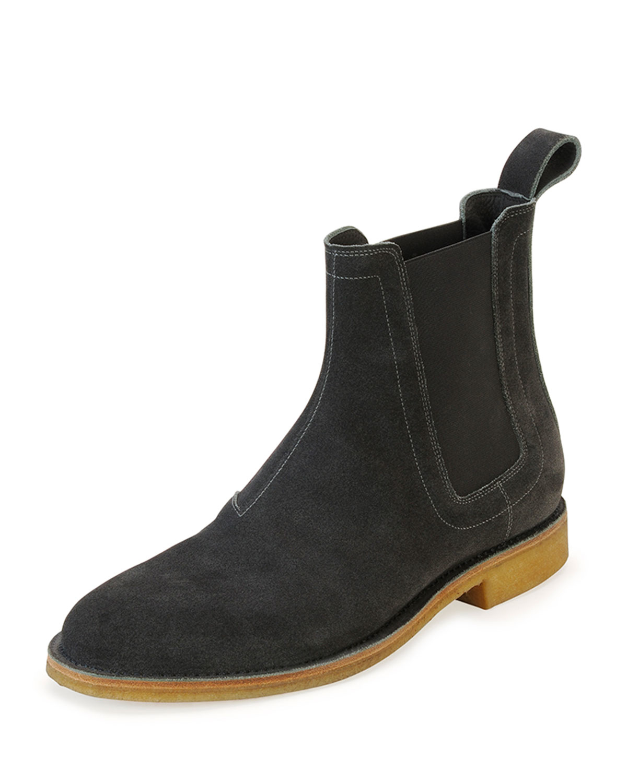 Simple Bottega Veneta Suede Chelsea Boots In Gray For Men  Lyst