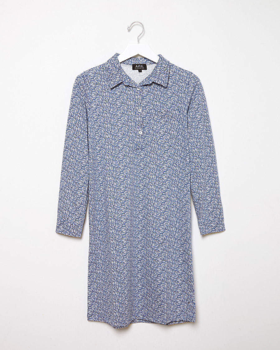 lyst a p c robe marie in blue. Black Bedroom Furniture Sets. Home Design Ideas