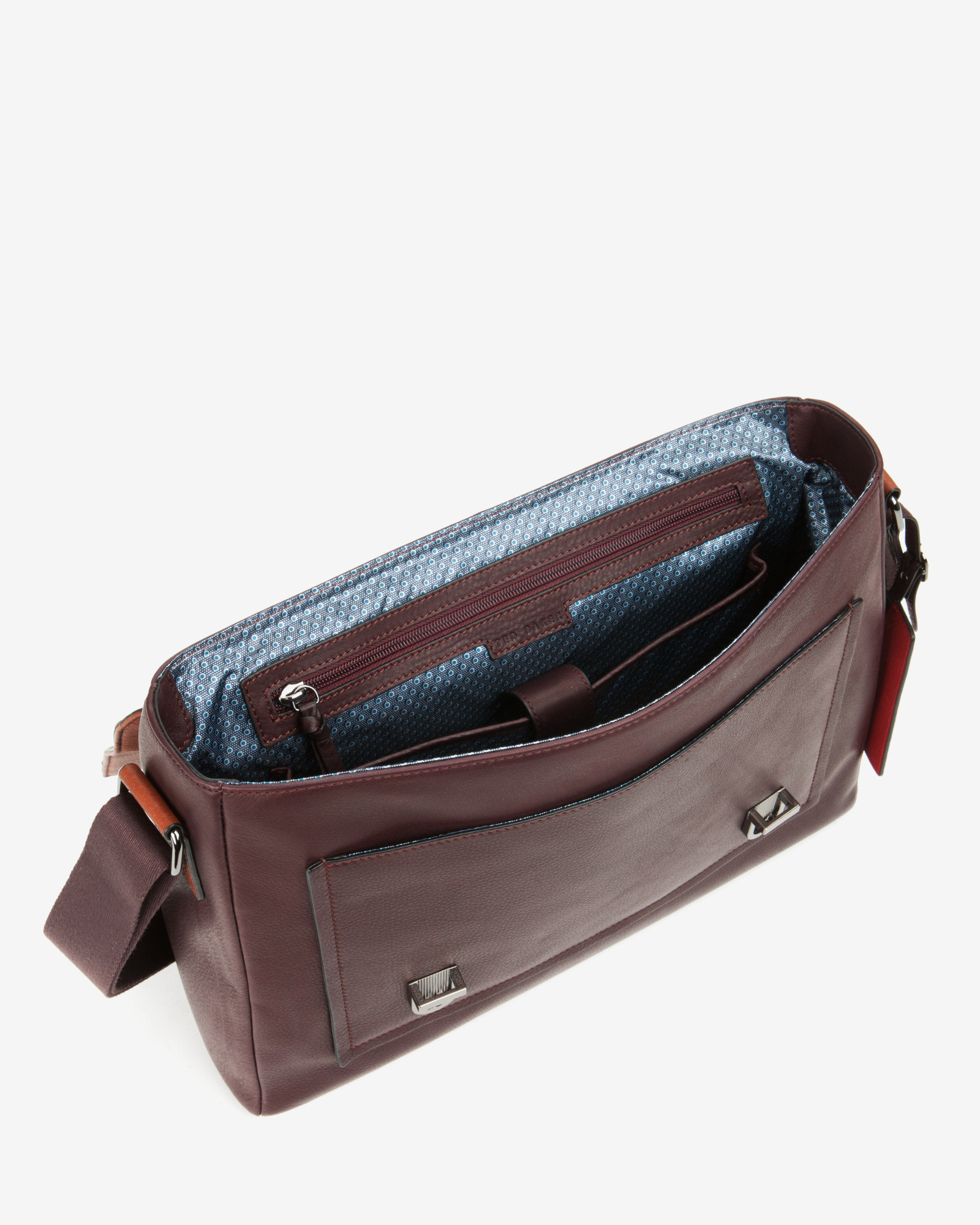 9a2530b6892f5b Lyst - Ted Baker Tonal Leather Satchel Bag in Purple for Men