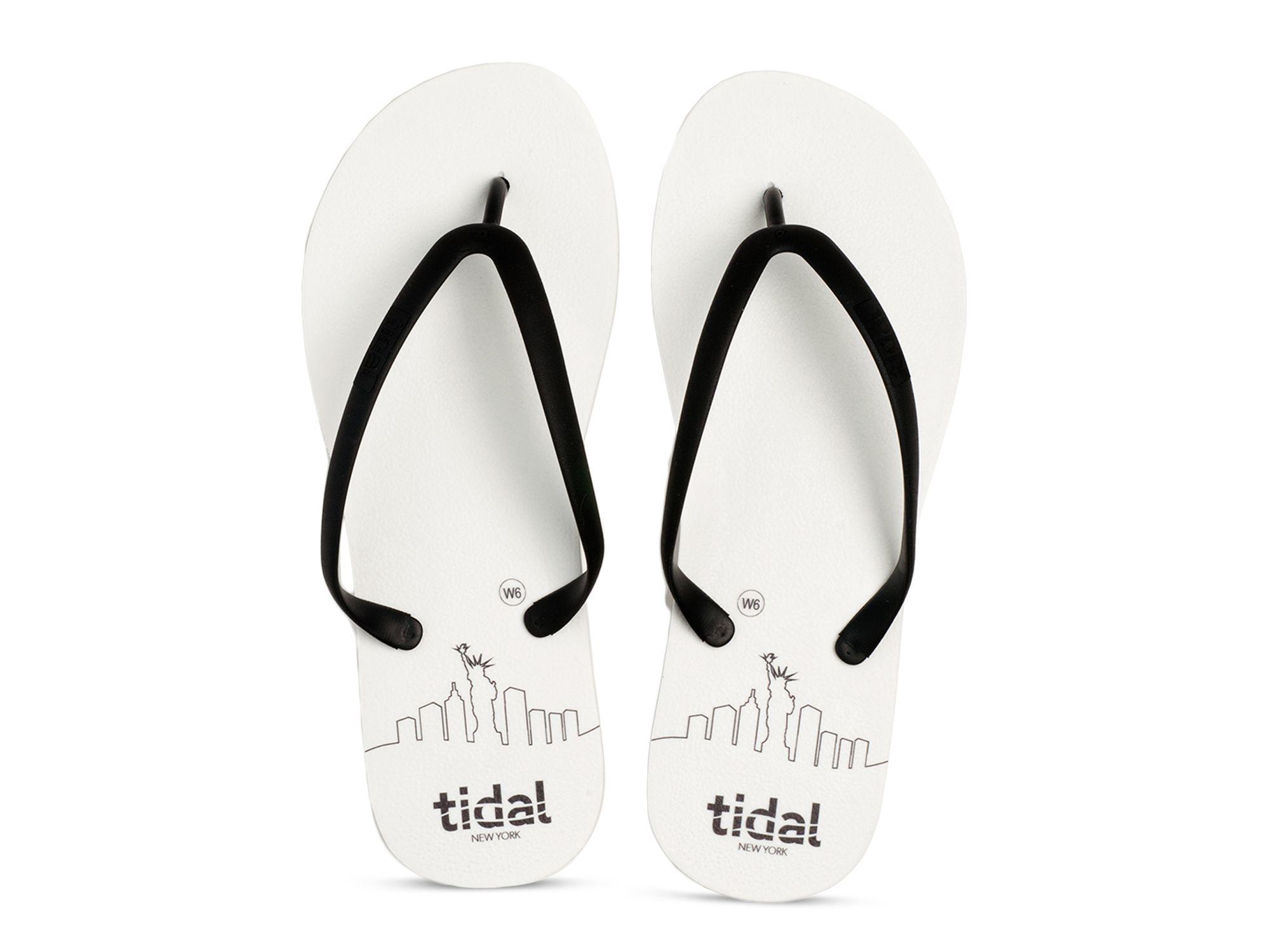 98cfd9021d8 Lyst - Tidal Flip Flops - Wavescape in White