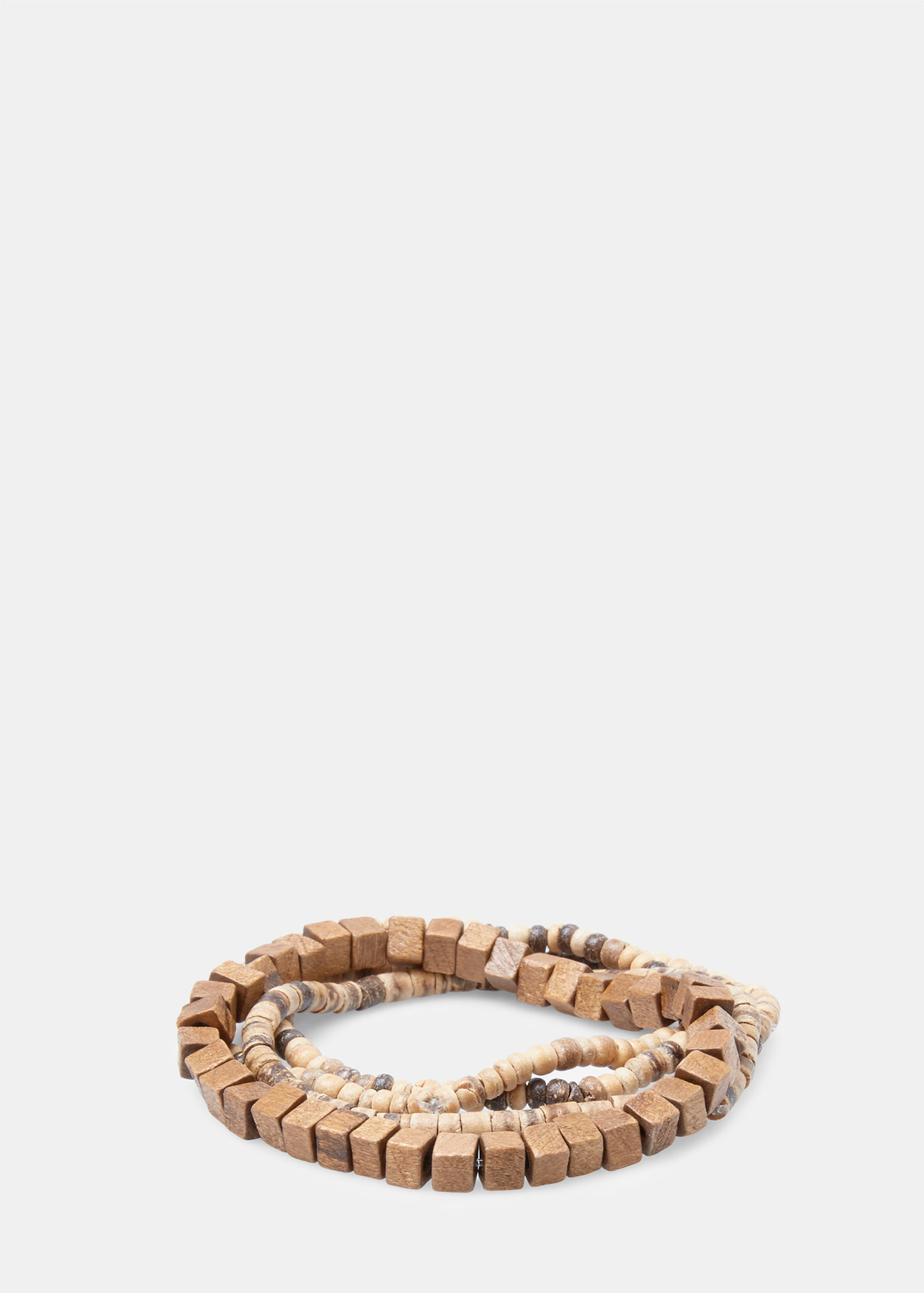 Lyst Mango Pack Wooden Beaded Bracelets In Natural