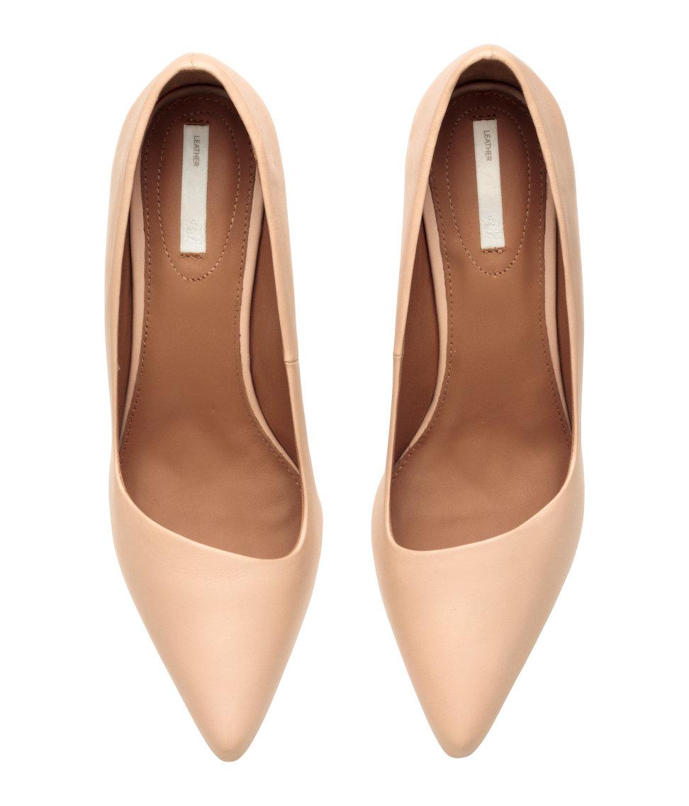 H Amp M Court Shoes In Natural Lyst