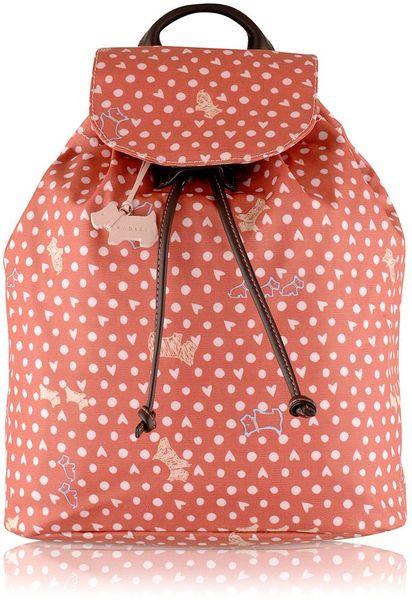Radley Pink Medium Back Pack in Pink - Lyst