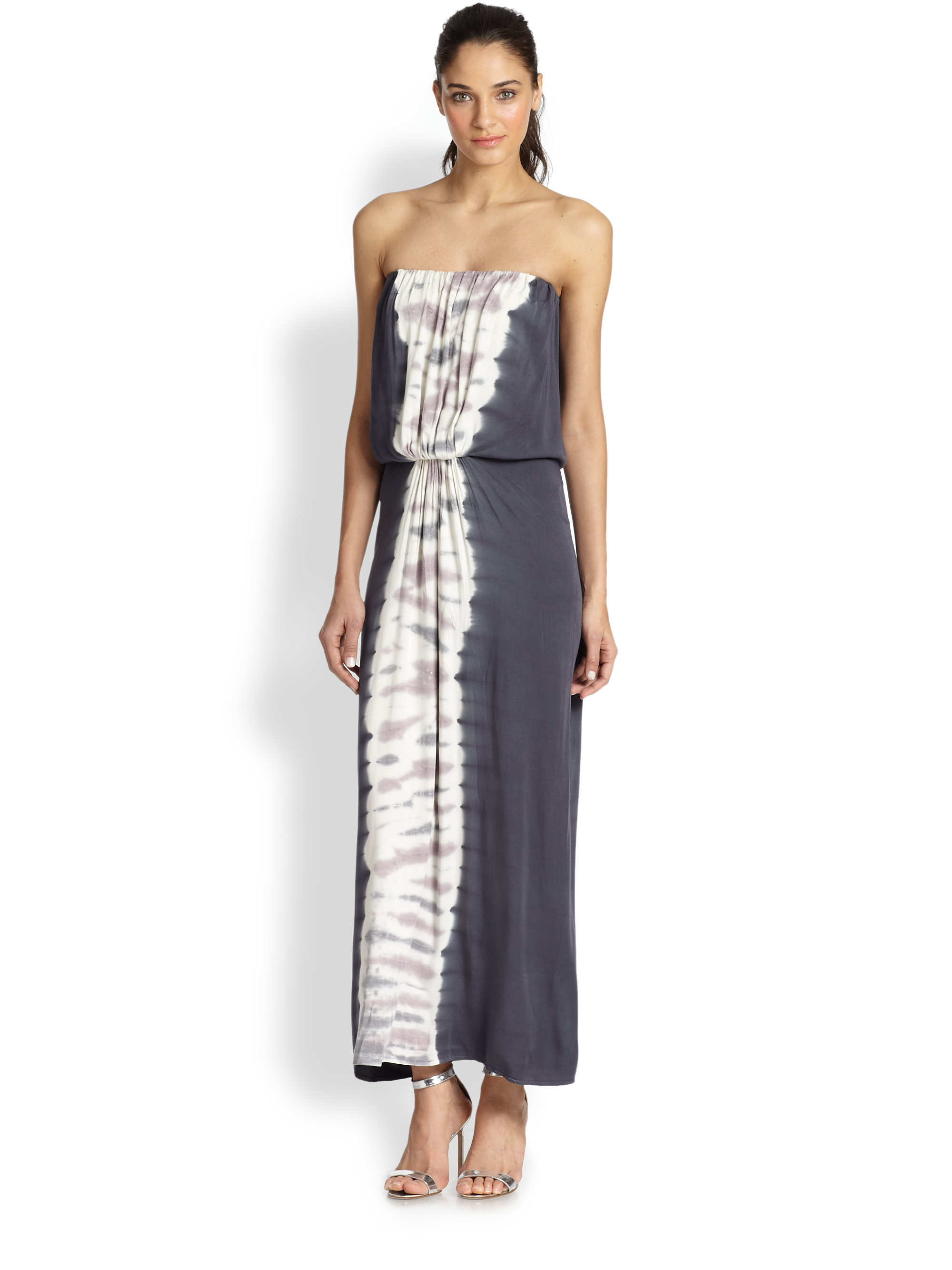 Young fabulous & broke Gautier Strapless Tiedye Maxi Dress in Gray ...