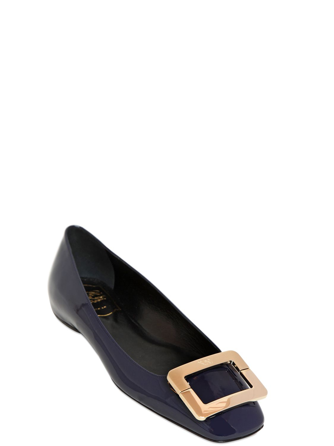 Roger Vivier Patent Leather Flats