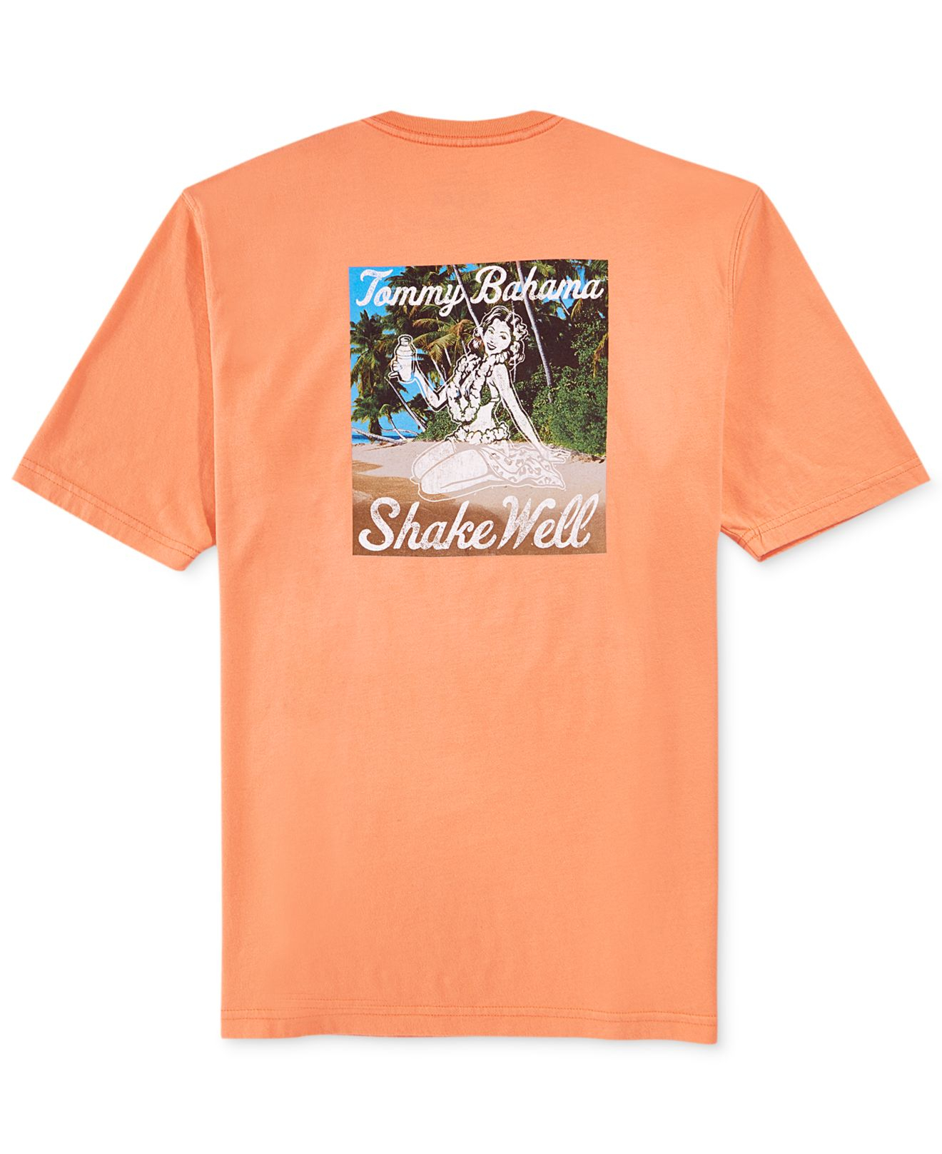 Tommy bahama shake well t shirt in orange for men lyst for Tommy bahama florida shirt
