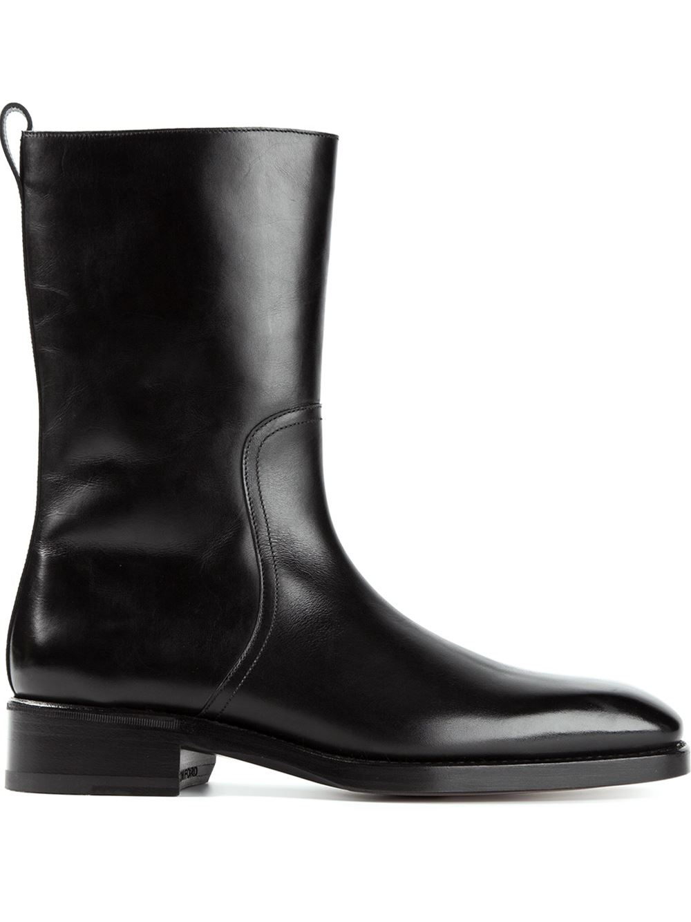 Tom ford Side Zip Boots in Black for Men | Lyst