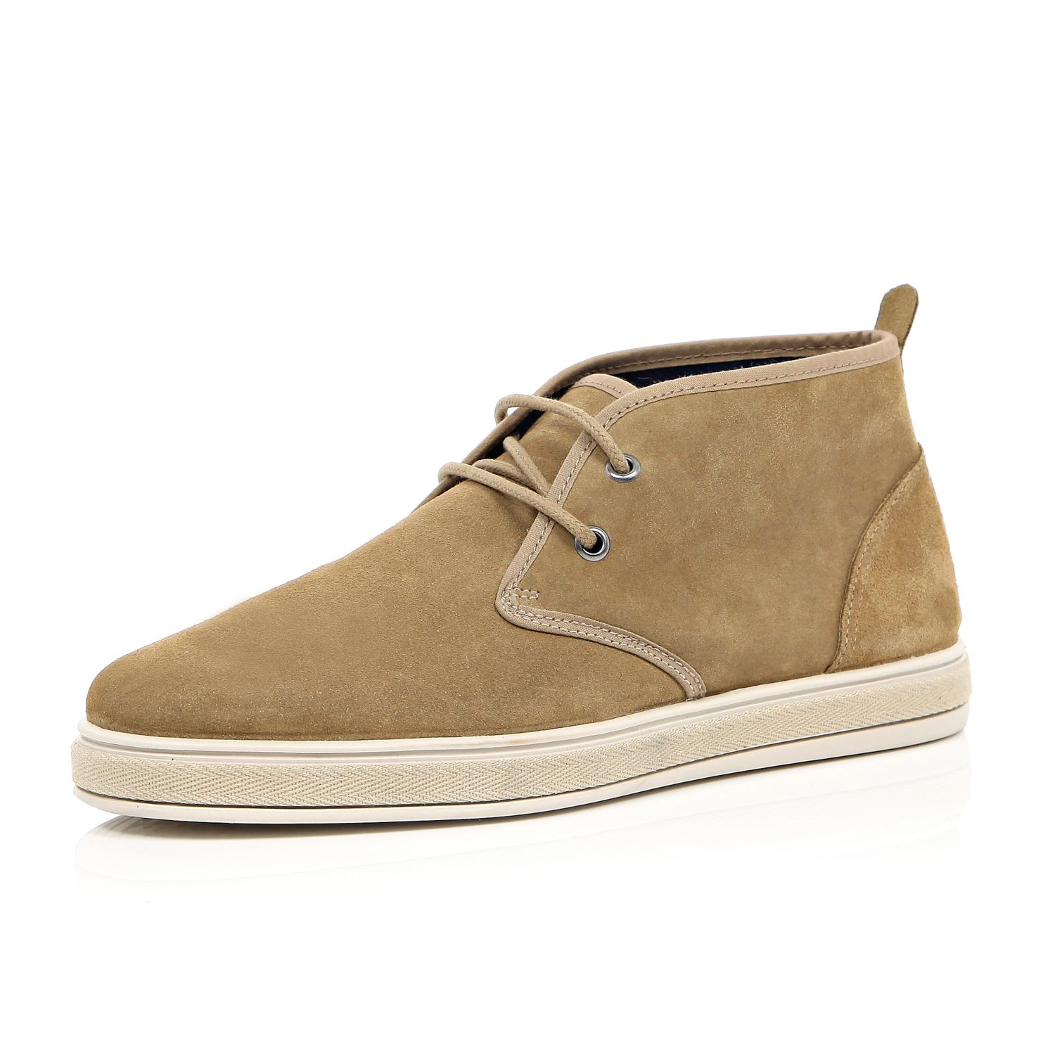 river island brown suede desert boots in brown for lyst