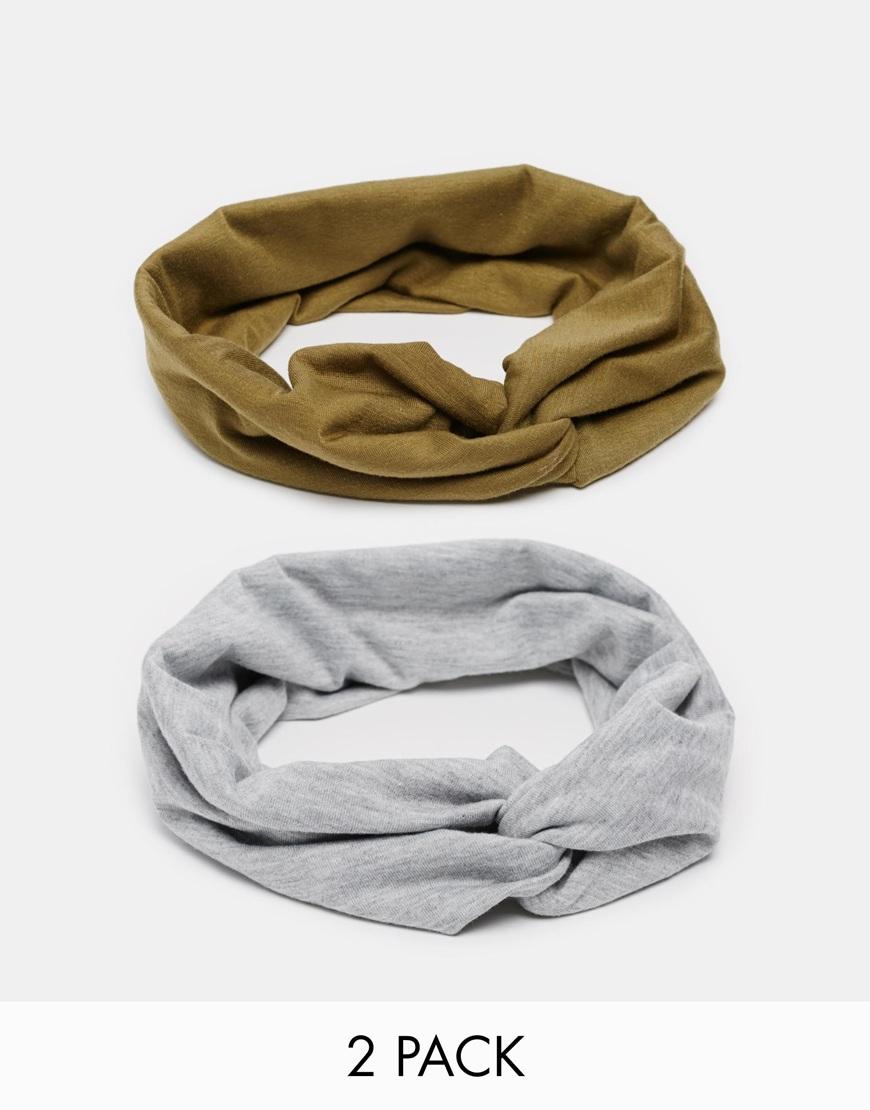 Asos Pack Of 2 Turban Headbands Lyst