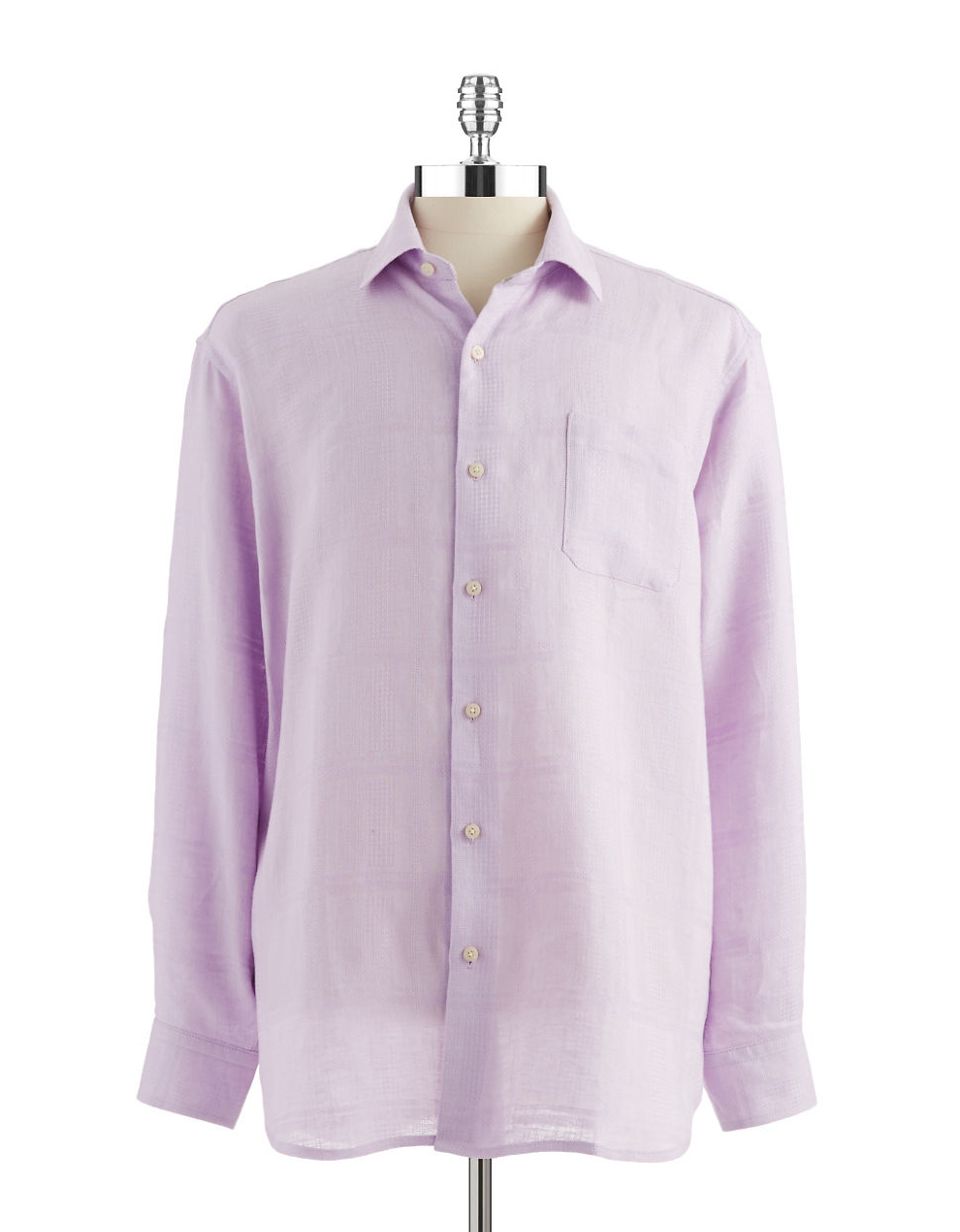 Tommy Bahama Monte Carlo Linen Buttondown Shirt In Purple