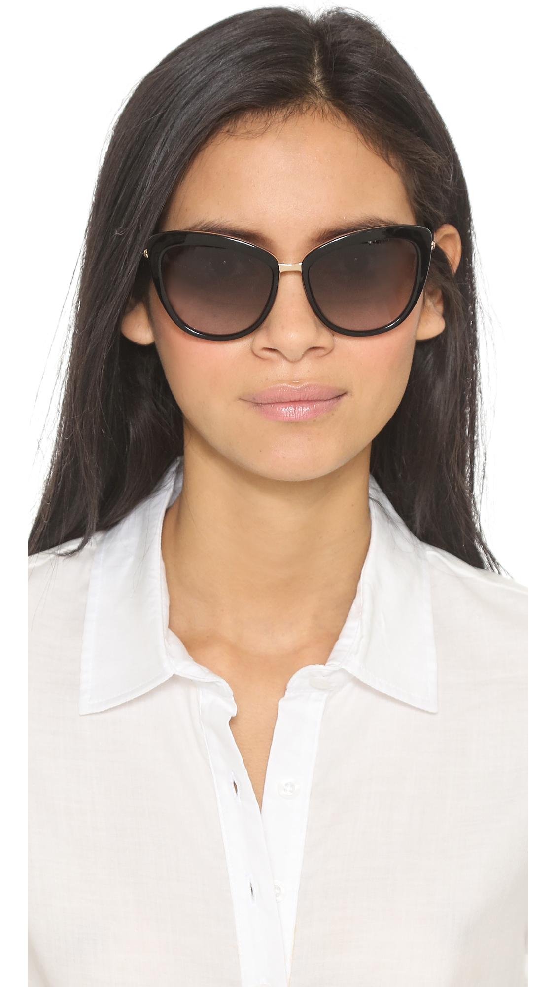 88704d69f4afe Lyst - Kate Spade Kandi Sunglasses in Black