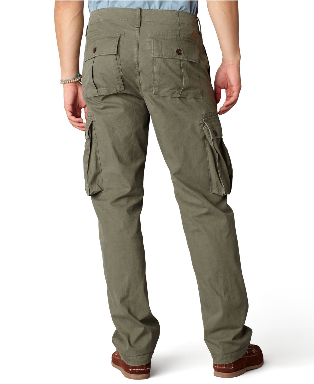 Dockers Bellowed Pocket Cargo In Army Green Green For