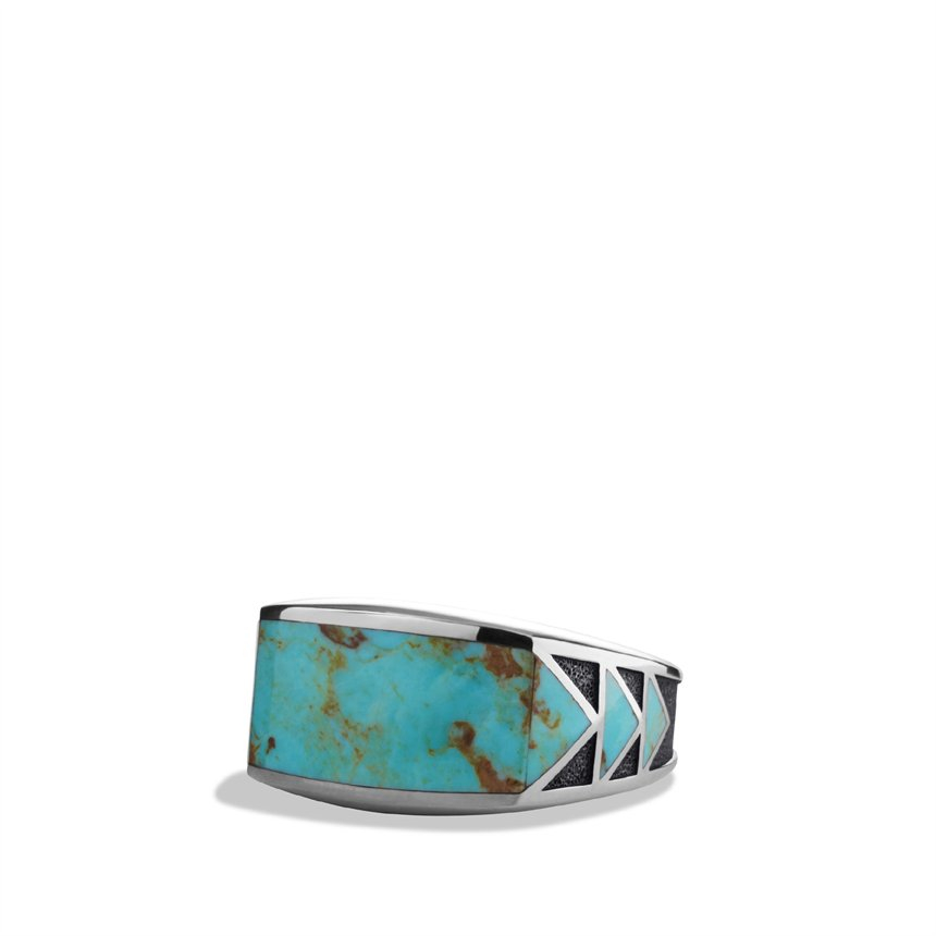 David Yurman Frontier Ring With Turquoise For Men Lyst