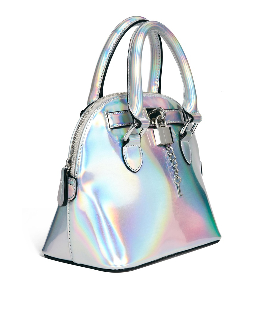 Lyst Aldo Vote Handheld Bag In Metallic In Metallic