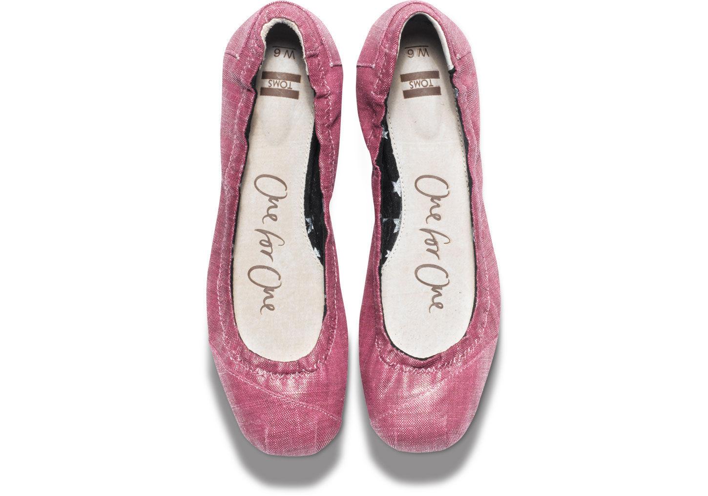 a0f92a926c TOMS Metallic Linen Womens Ballet Flats in Purple - Lyst