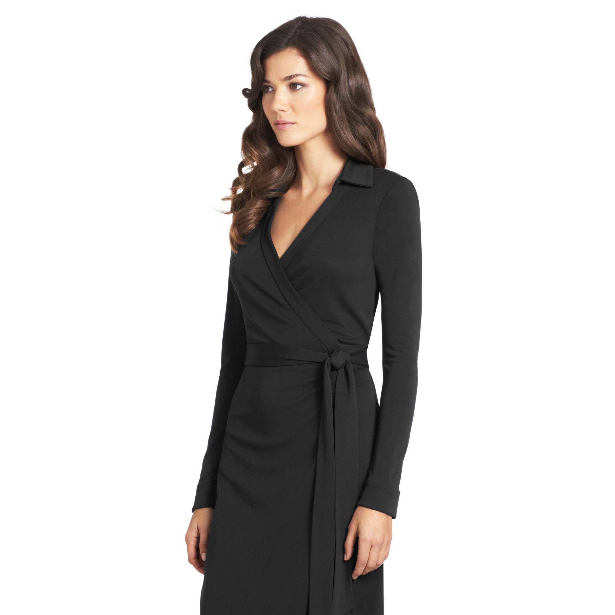 Shop black wrap dress at Neiman Marcus, where you will find free shipping on the latest in fashion from top designers. Co Burnout Long-Sleeve Wrap Dress, Black Details Co dress featuring abstract burnout design. High shawl collar with surplice front; hook-and-eye closure behind neck. More Details Jonathan Simkhai Sueded Jersey.
