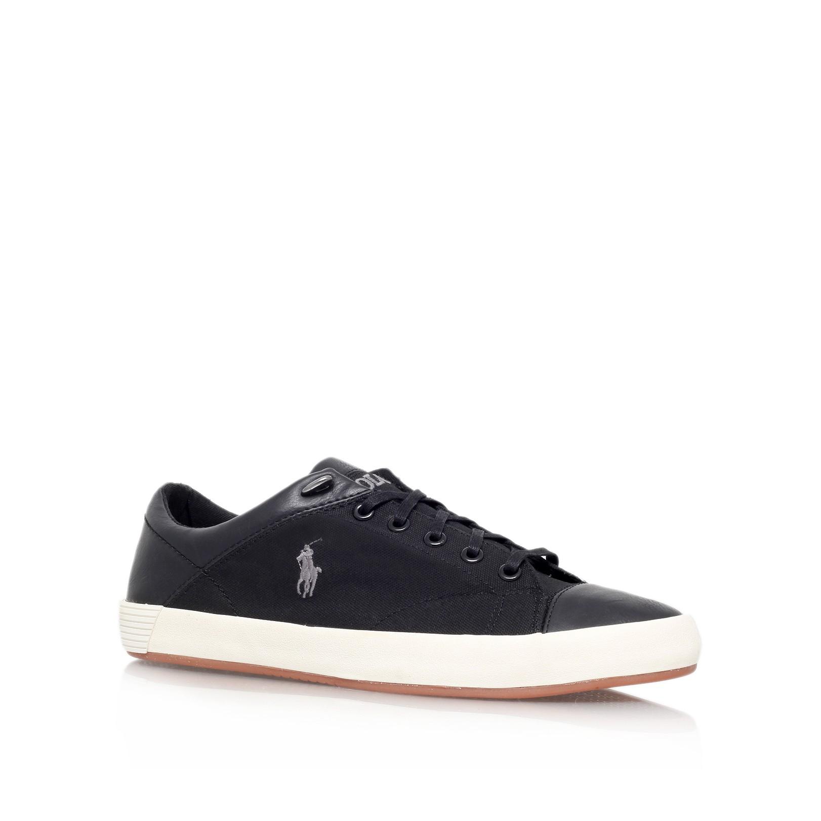polo ralph lauren jerome toecap sneaker in black lyst. Black Bedroom Furniture Sets. Home Design Ideas