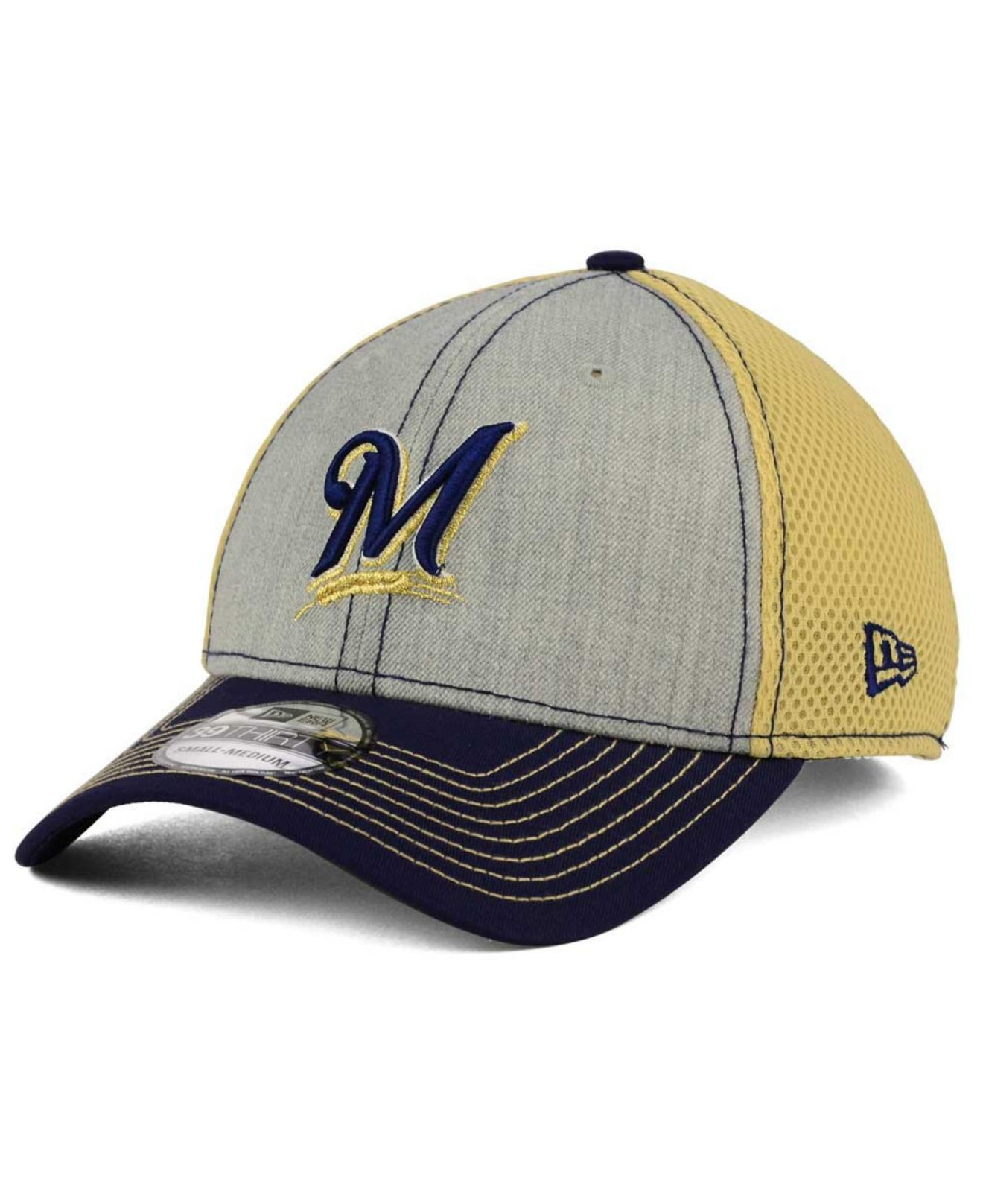 new products 3be02 21ac0 Lyst - KTZ Milwaukee Brewers Heathered Neo 39thirty Cap in Gray for Men
