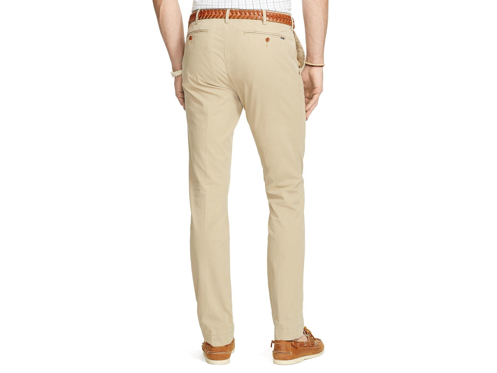 d905982b4 Ralph Lauren Polo Newport Slim Fit Chino Pants in Natural for Men - Lyst