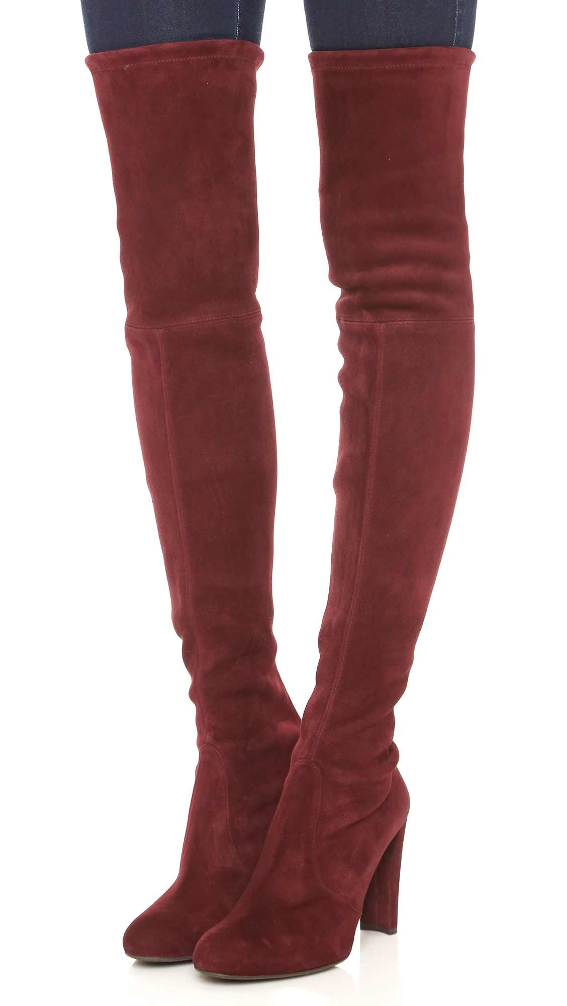 Stuart Weitzman Highland Over The Knee Boots Topo In