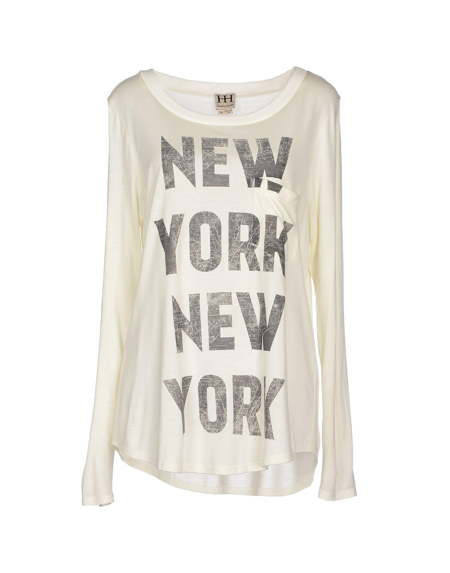 Lyst haute hippie t shirt in white for Hippie t shirts australia