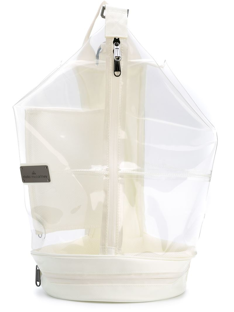 c0055779201 Adidas By Stella McCartney Natural 'studio' Transparent Backpack