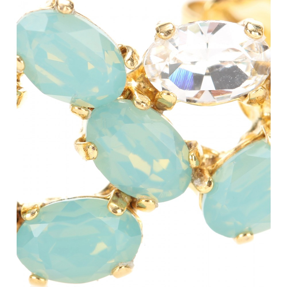 Joanna Laura Constantine Embellished Goldplated Ear Cuff in Blue