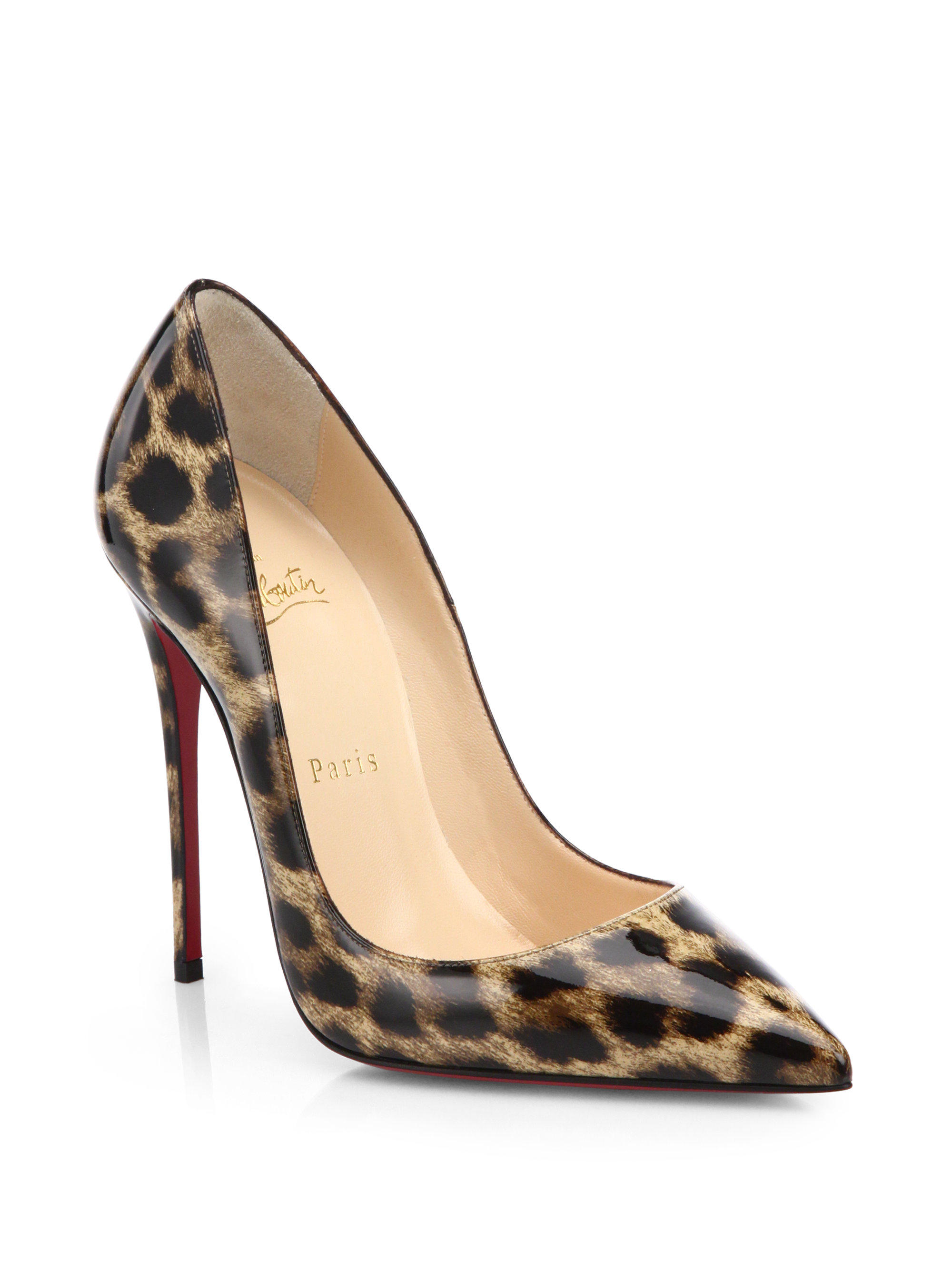 b6e0e30d8f2 Christian Louboutin Multicolor So Kate Leopard-Print Patent Leather Pumps