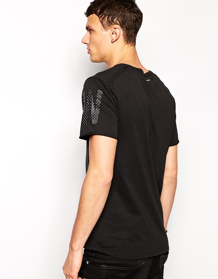 lyst g star raw g star t shirt abeloak a polka dot box fit in black for men. Black Bedroom Furniture Sets. Home Design Ideas