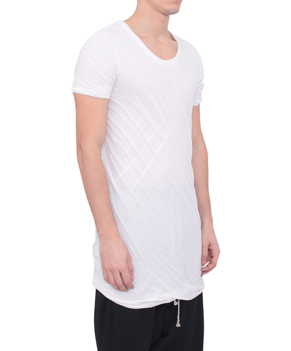 Lyst rick owens cotton double layer tshirt in white for men for Cotton white t shirt