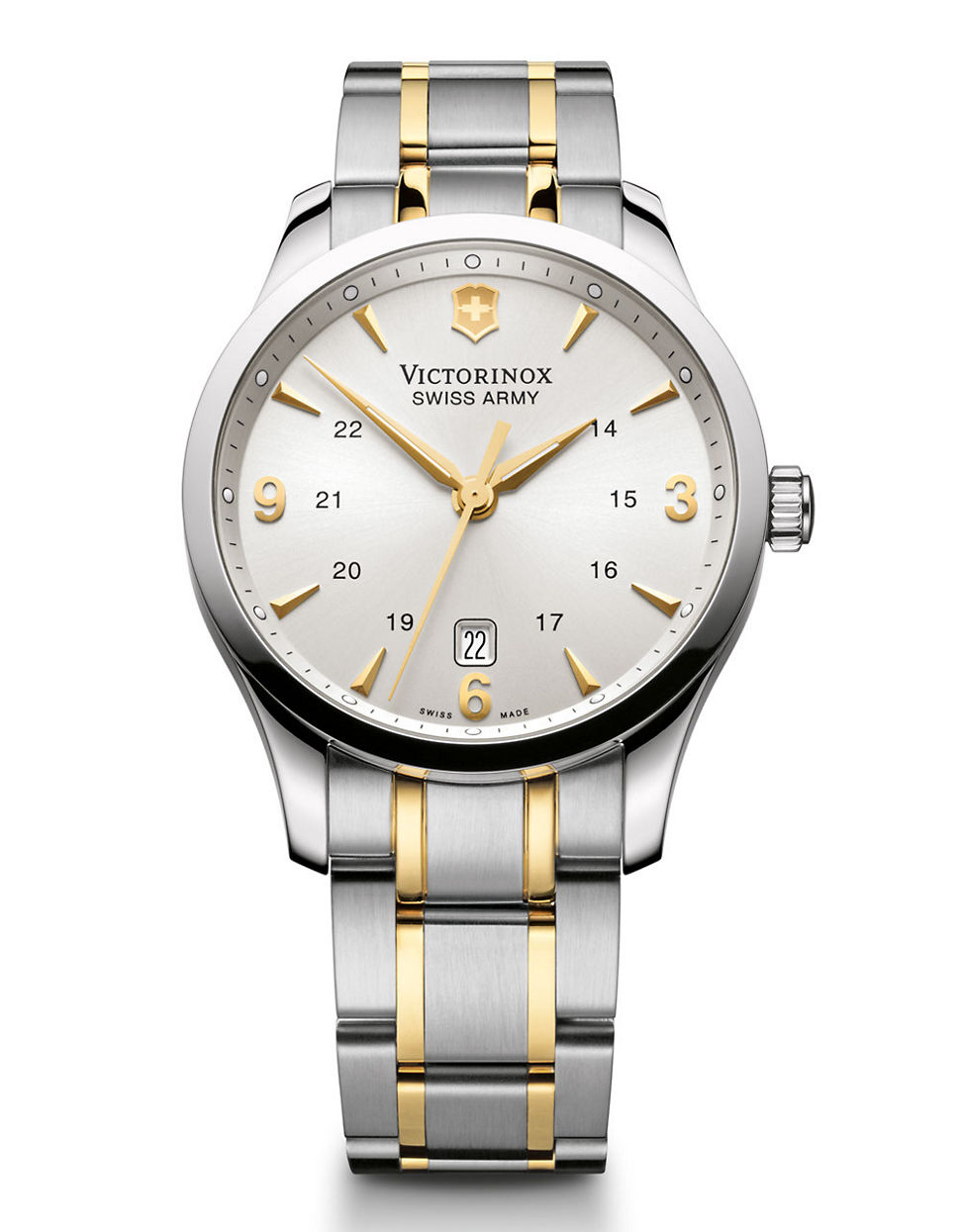 Victorinox Mens Alliance Two Tone Silver And Gold
