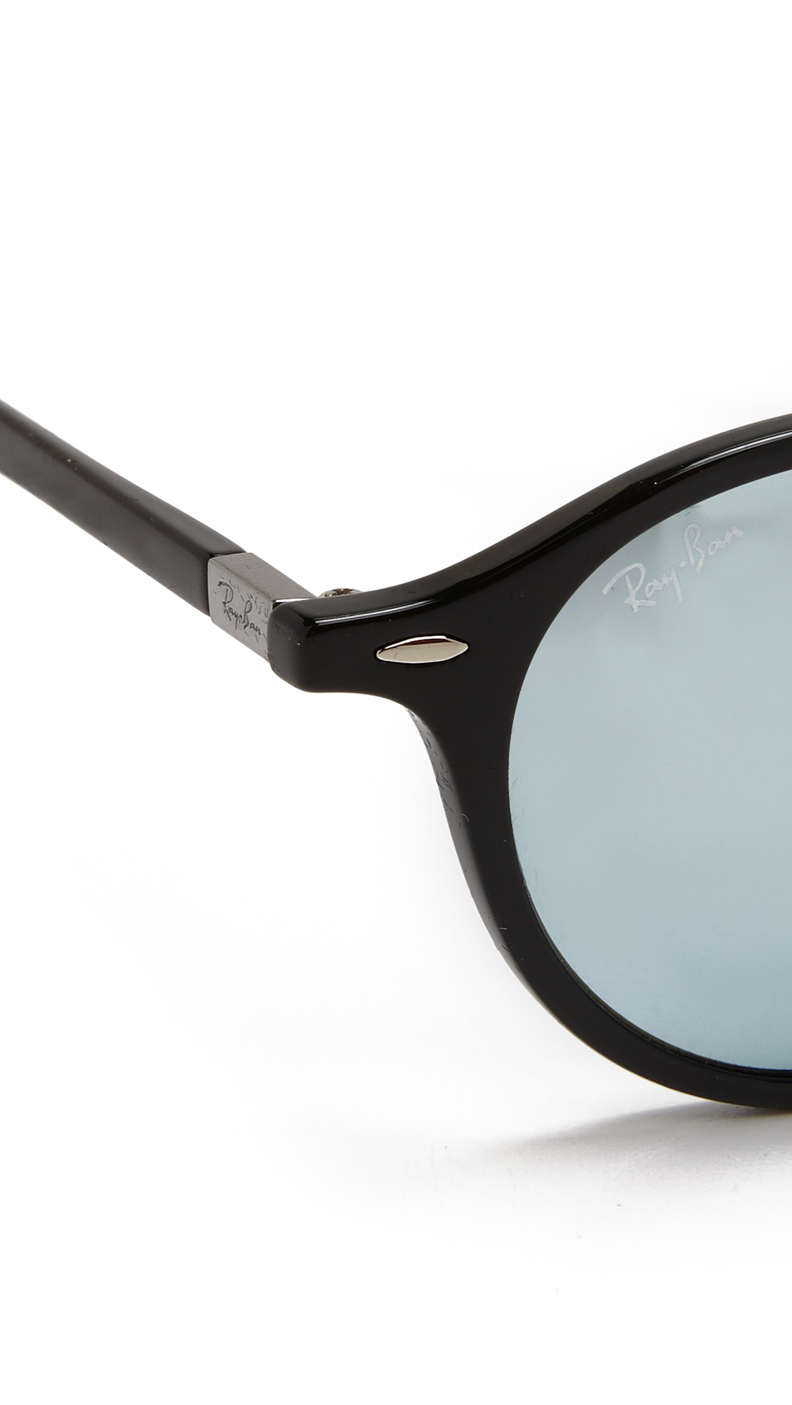 81dcf12cdf Ray Ban Round Black And Silver