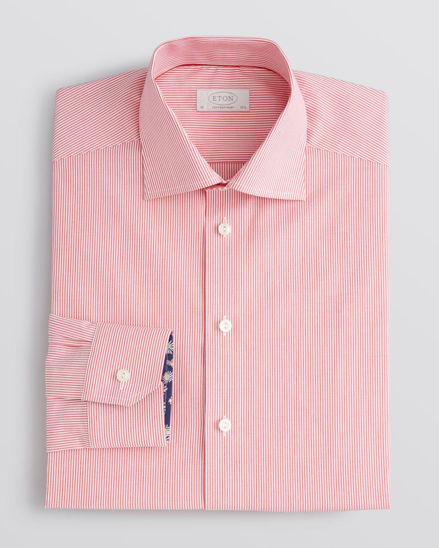 Lyst eton of sweden eton bengal stripe dress shirt for Regular fit dress shirt