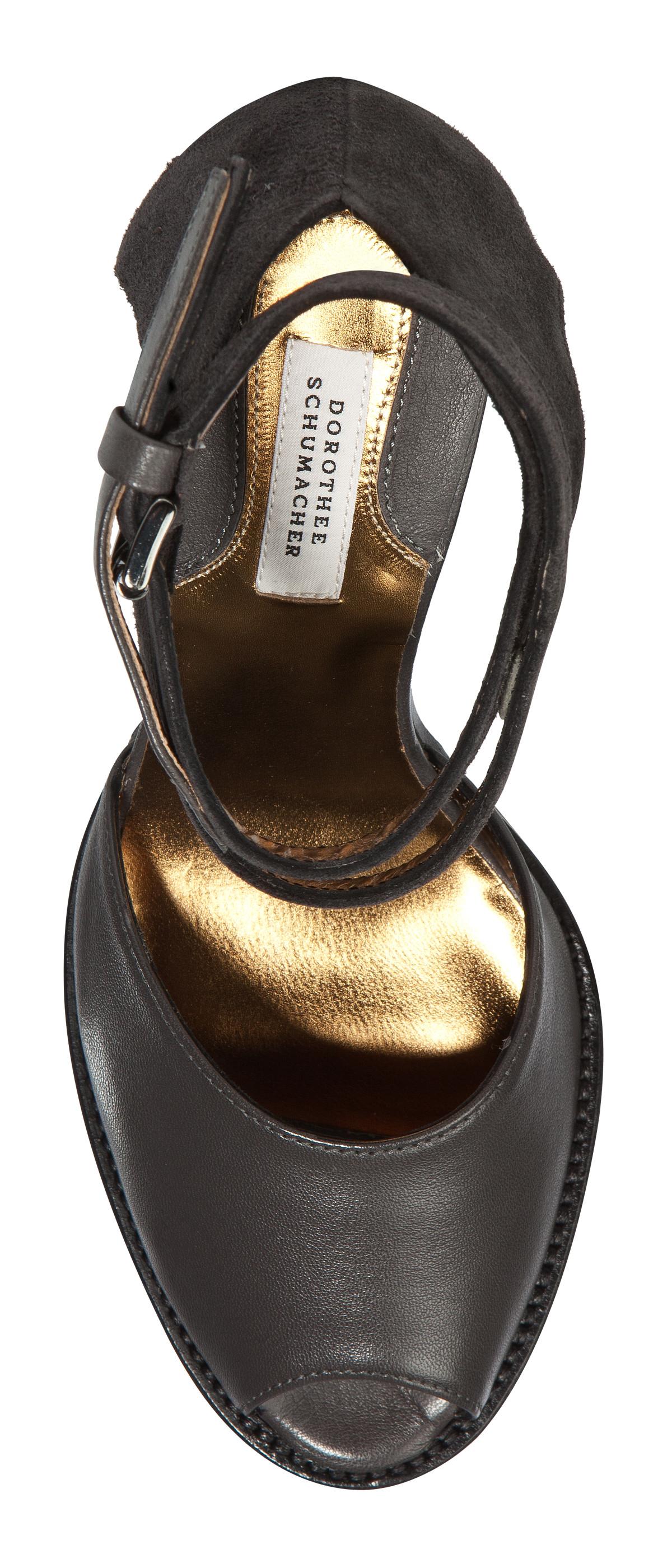 dorothee schumacher biker chic sandal in gray lyst. Black Bedroom Furniture Sets. Home Design Ideas