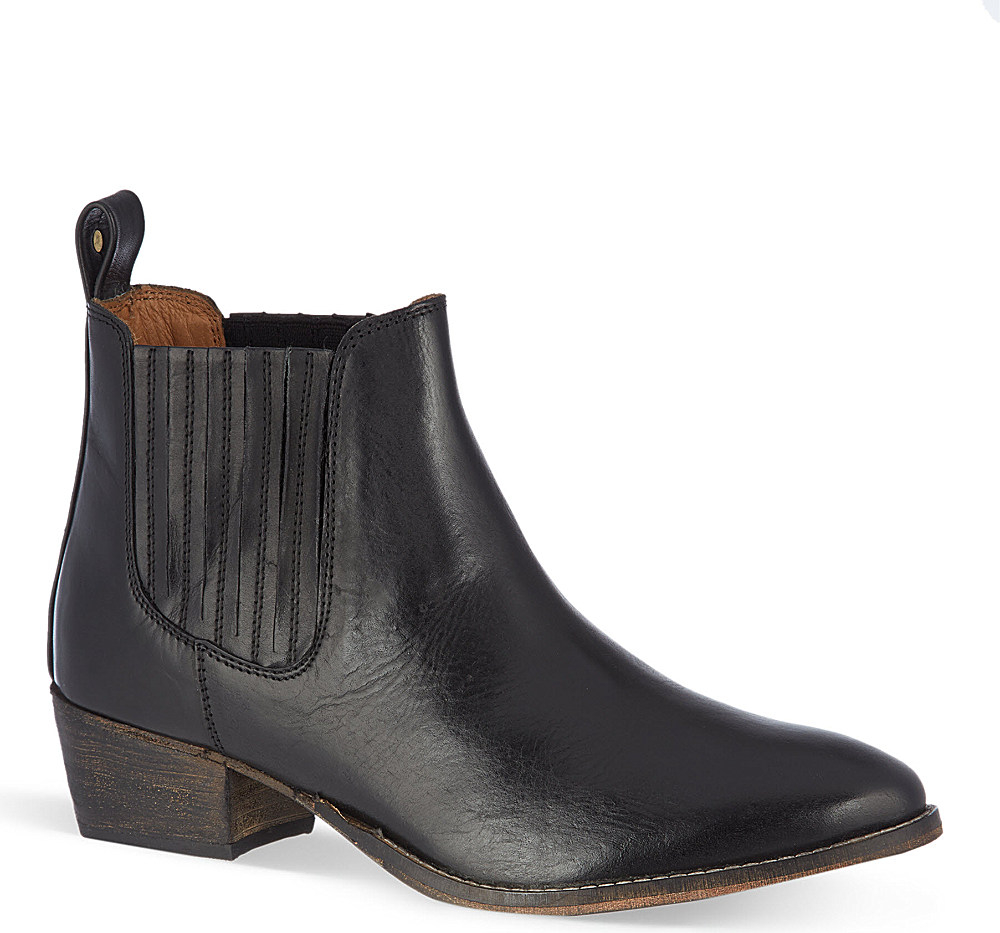 kurt geiger lang leather chelsea boots in black lyst