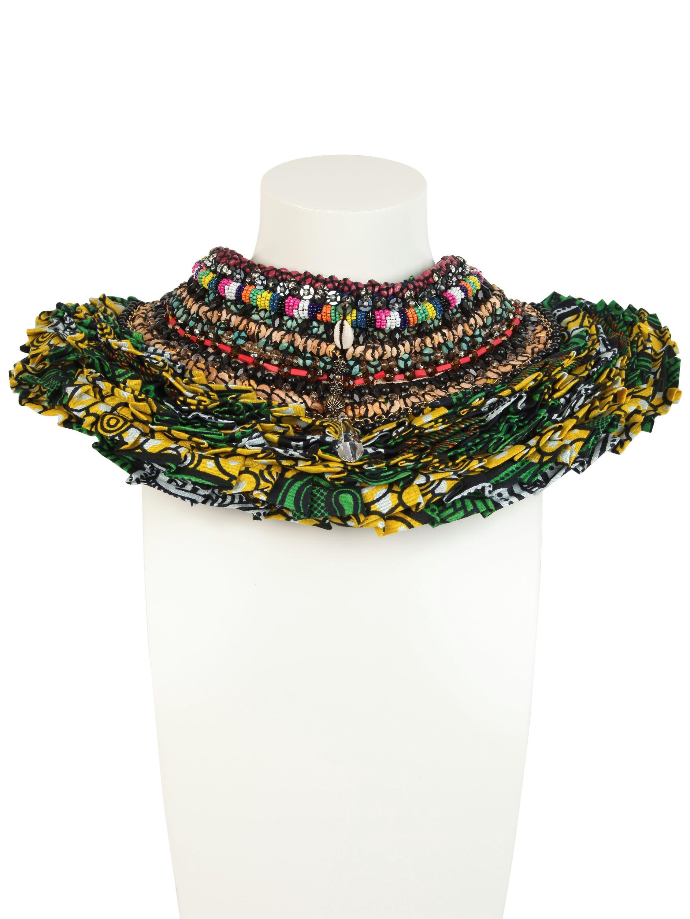 Anita Quansah London Reva Necklace in Green