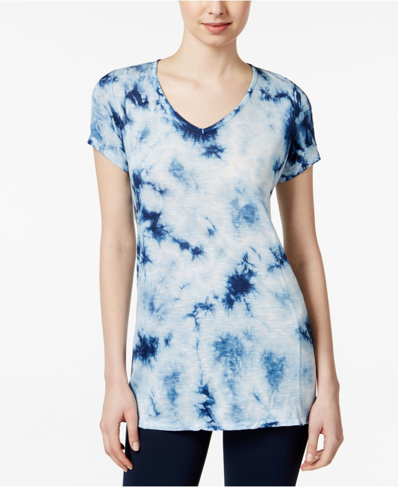 style co tie dyed t shirt only at macy s in blue lyst