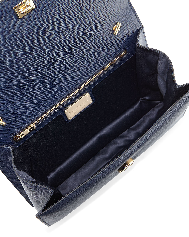 ... Ferragamo Ginny Vara Cross-Body Bag in Blue Lyst finest selection 99cd3  b0bce ... 39467453c2