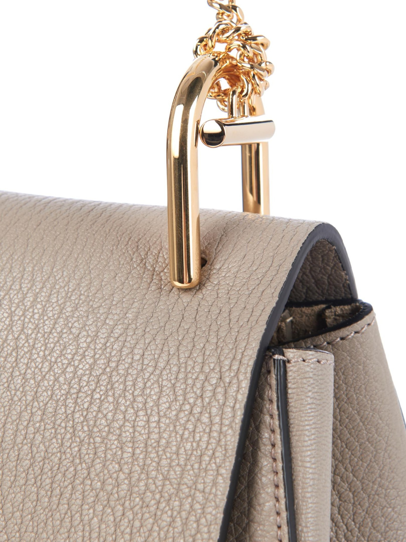 chloe small pebbled leather drew bag