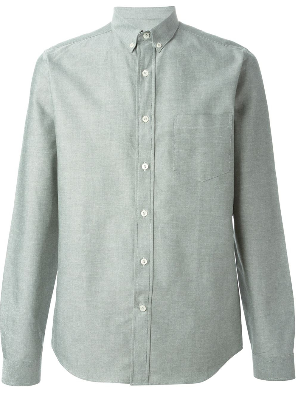 Ami Button Down Collar Shirt In Green For Men Lyst