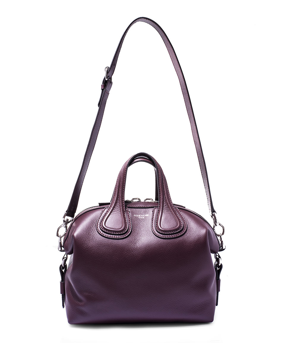 e2dfaaef4dc Givenchy Small Burgundy Nightingale Waxed Leather Bag in Purple - Lyst