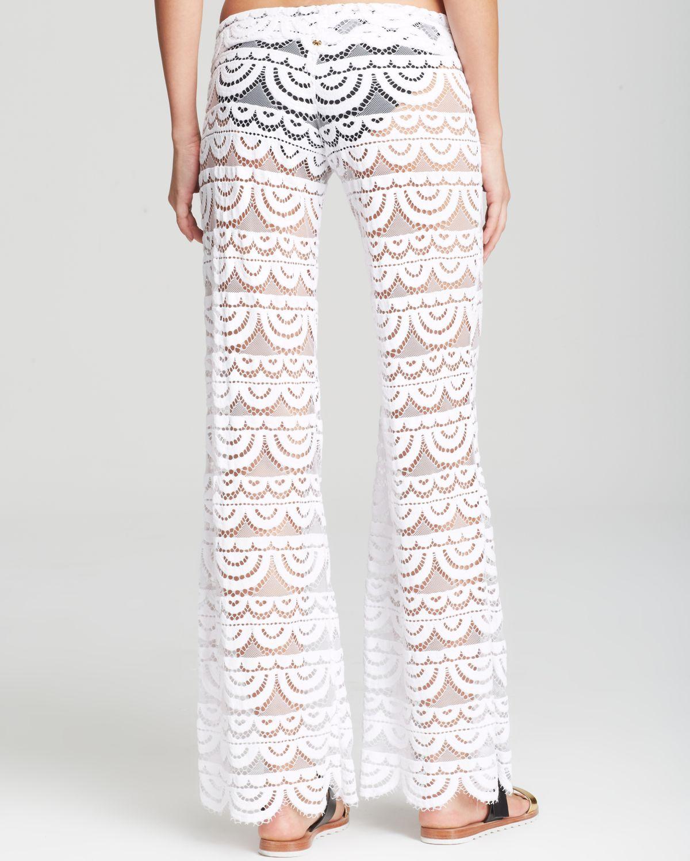 cabcf981301bb Pilyq Malibu Lace Crochet Pants Swim Cover Up in White - Lyst