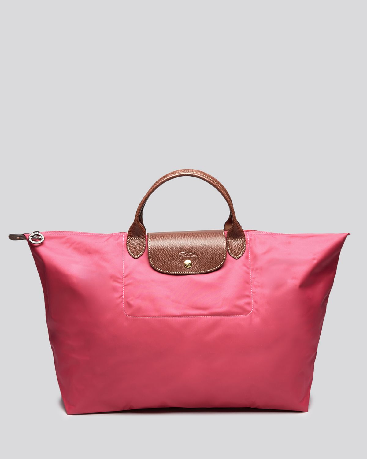 3801cccdcfff Lyst - Longchamp Le Pliage Travel Bag in Pink